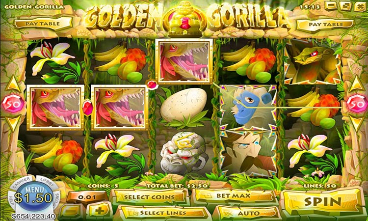 Golden Gorilla Video Pokie